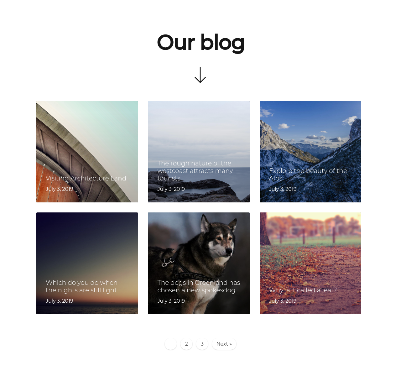 Oxygen Builder Template Light Easy Posts Blog with 3 Columns Blog  3 columns, Blog Post, Centered, Easy posts, Horizontal, Images, Pages, Text Box