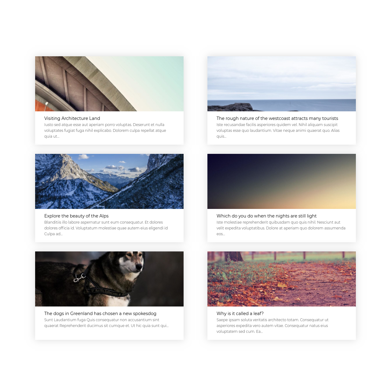 Oxygen Builder Template 2 column blog design Blog  Blog, News, post type, Repeater